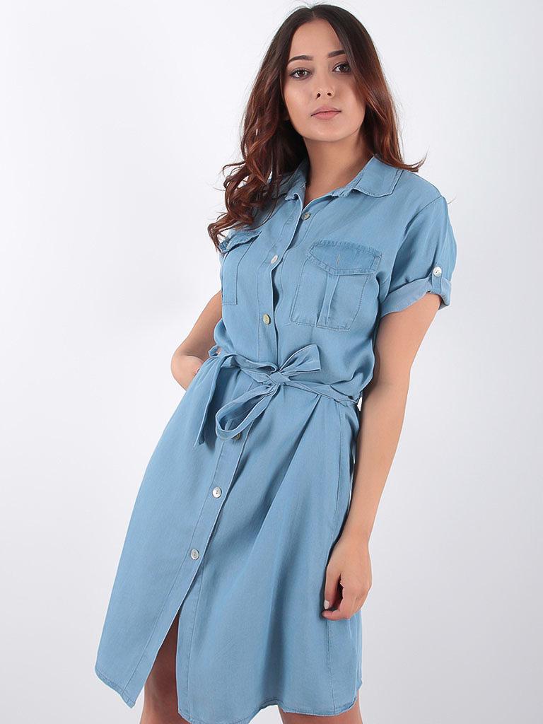 LADYLIKE FASHION Jeans Blue Shirt Dress
