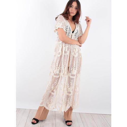 LADYLIKE FASHION Lace Kimono Beige