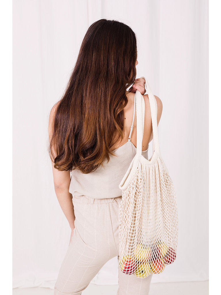 LADYLIKE FASHION Fishnet Bag Ecru
