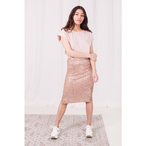 LADYLIKE FASHION Paillet Skirt Nude