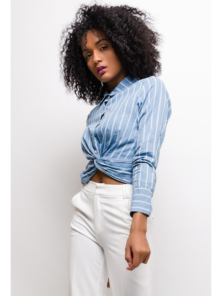 SOFTY Knot shirt Denim