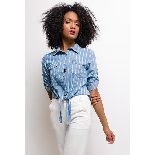 SOFTY Striped denim shirt