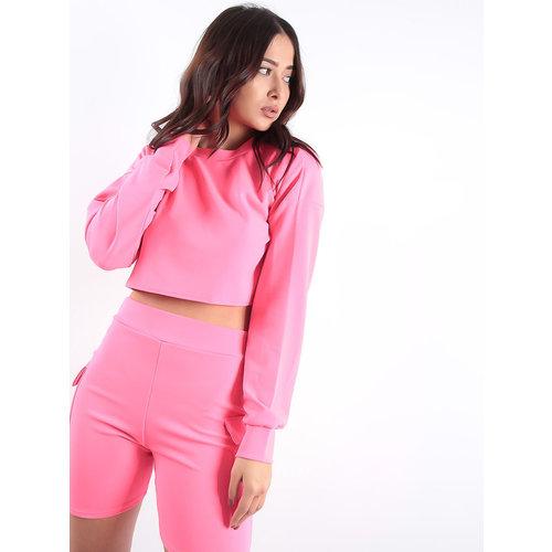 LADYLIKE FASHION Pocket Shorts Neon Pink