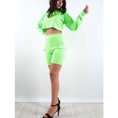 LADYLIKE FASHION Pocket Shorts Neon Lime