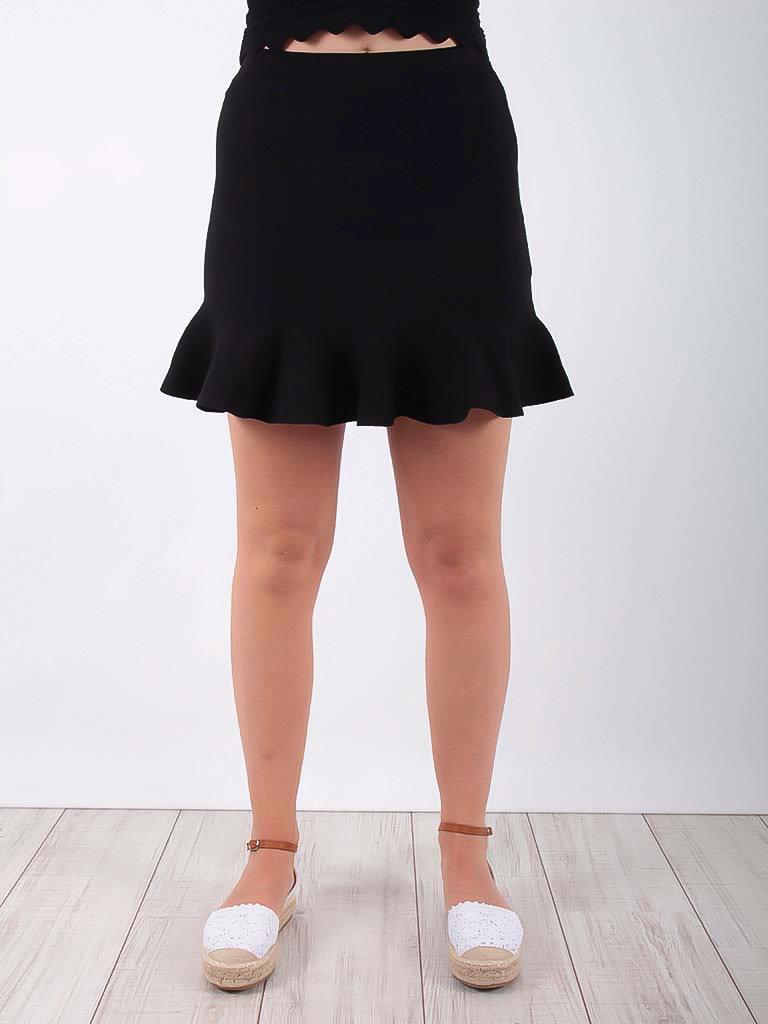 BY CLARA Wavy Mini Skirt Black