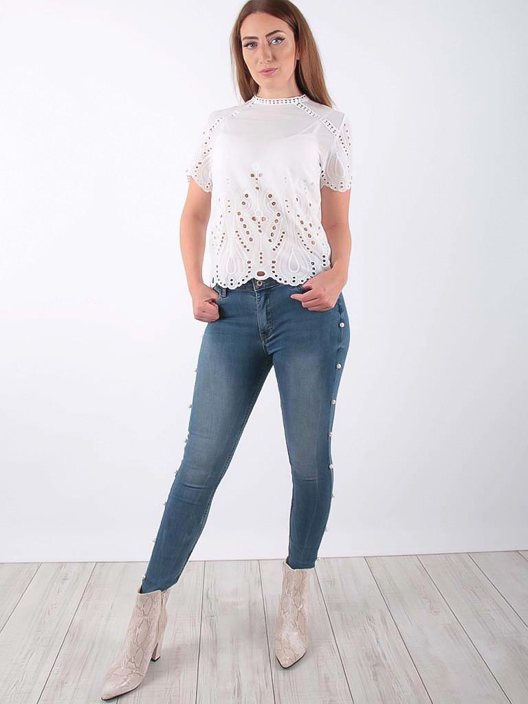 MARFAA Bohemian blouse White