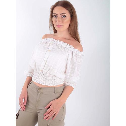 LADYLIKE FASHION Off shoulder blouse White