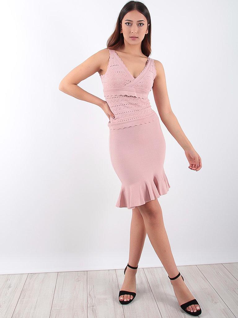 VINTAGE DRESSING Wavy Mini Skirt Lilac