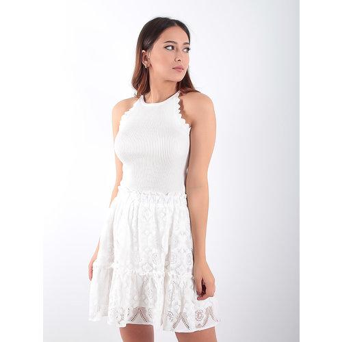 LADYLIKE FASHION Knitted Bodysuit White