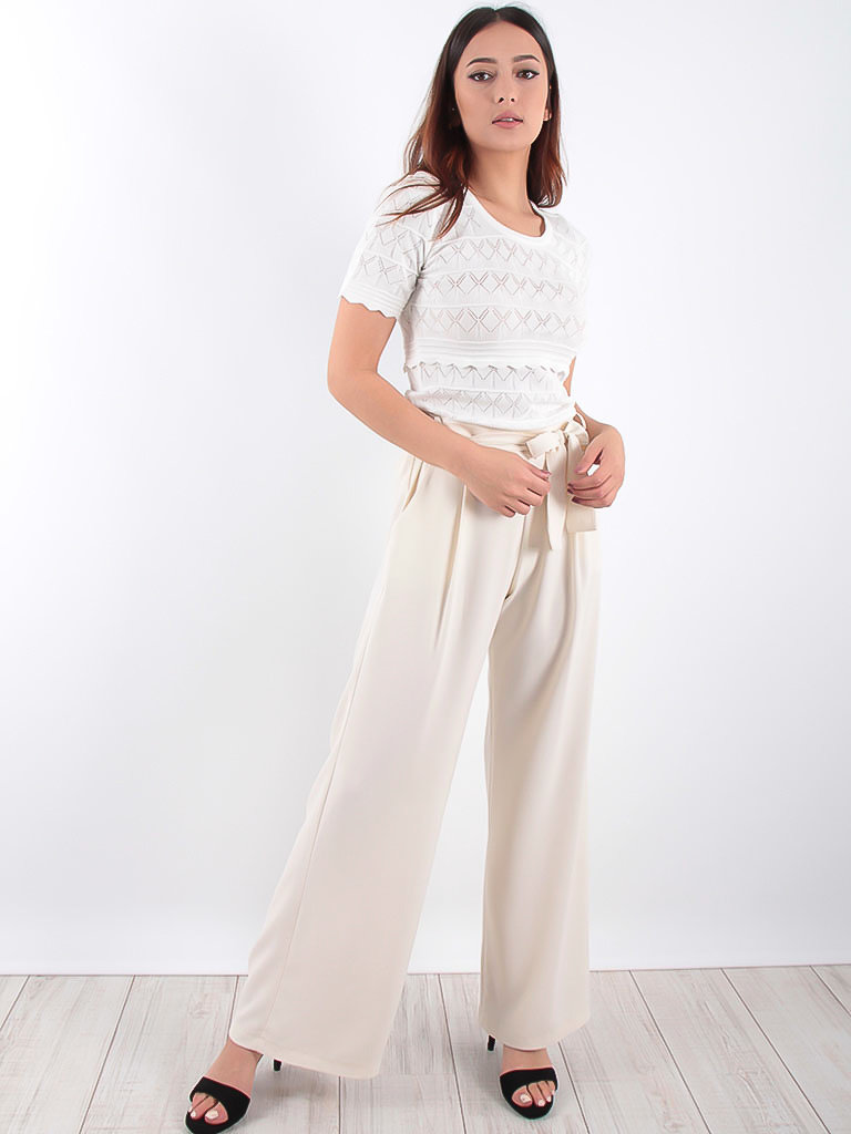 LADYLIKE FASHION Belted Wide Leg Trousers
