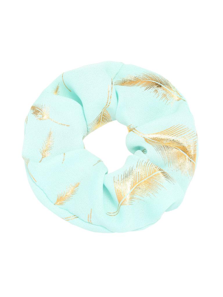 LADYLIKE FASHION Scrunchie Golden Feather Blue