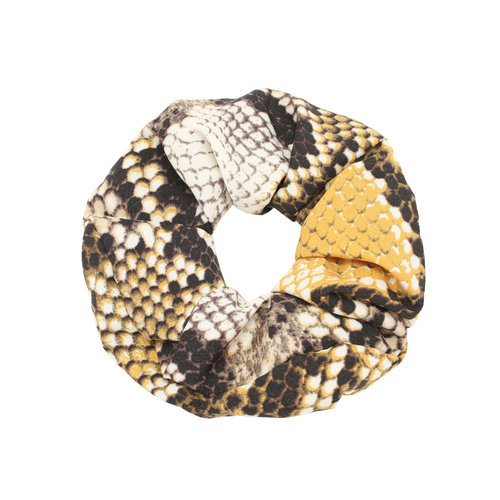 LADYLIKE FASHION Scrunchie Snake Yellow