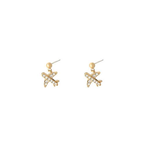 LADYLIKE FASHION Earrings Airplane Gold