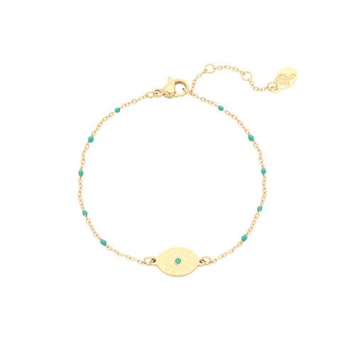 LADYLIKE FASHION Bracelet Eye of India Green
