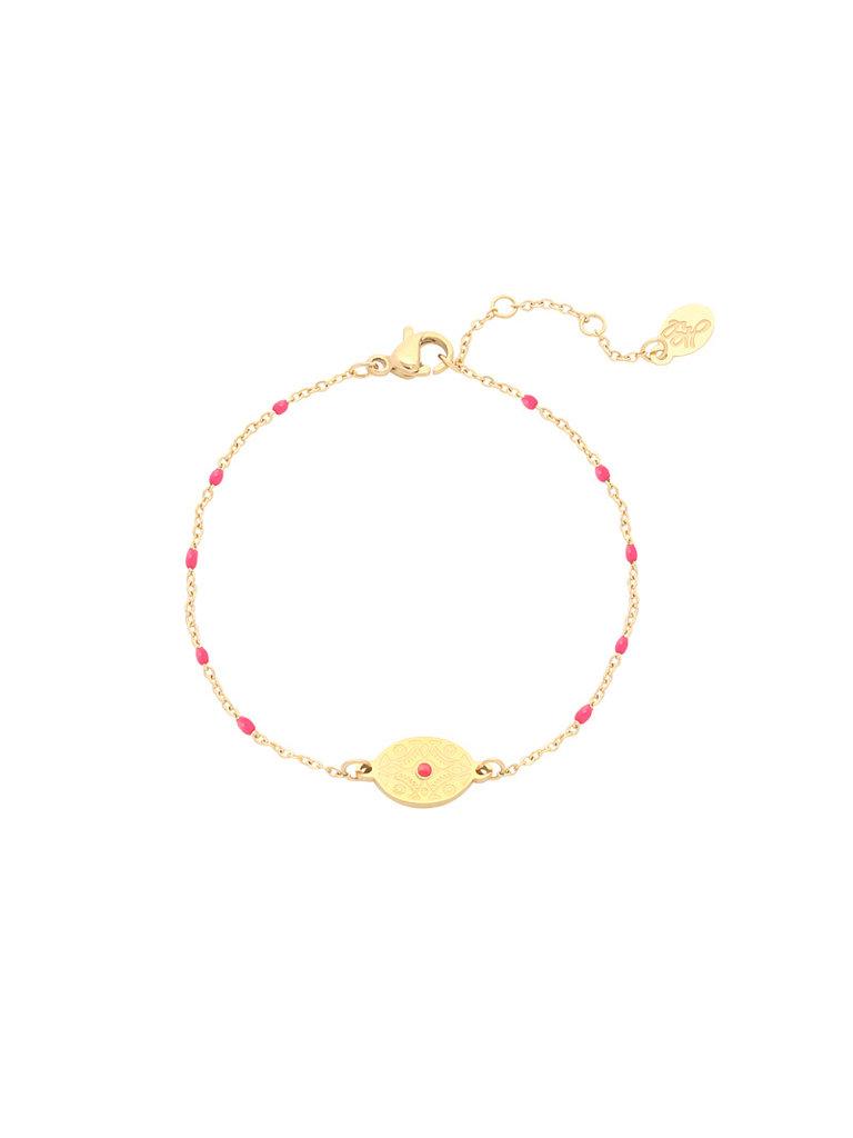 LADYLIKE FASHION Bracelet Eye of India Pink