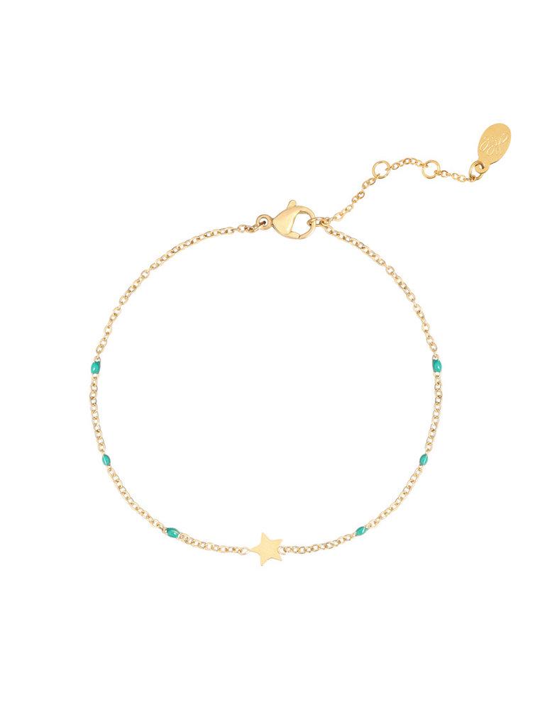 LADYLIKE FASHION Bracelet Shine Like A Star Green