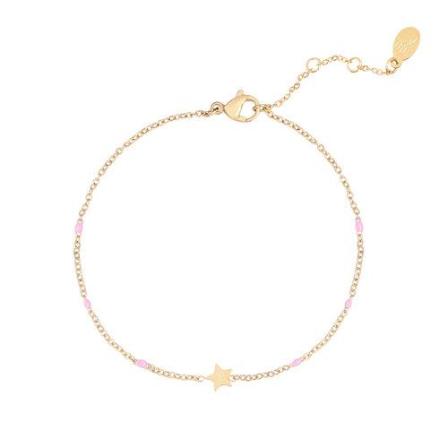 LADYLIKE FASHION Bracelet Shine Like A Star Pink