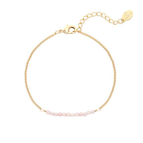 LADYLIKE FASHION Bracelet Fab Beads Pink