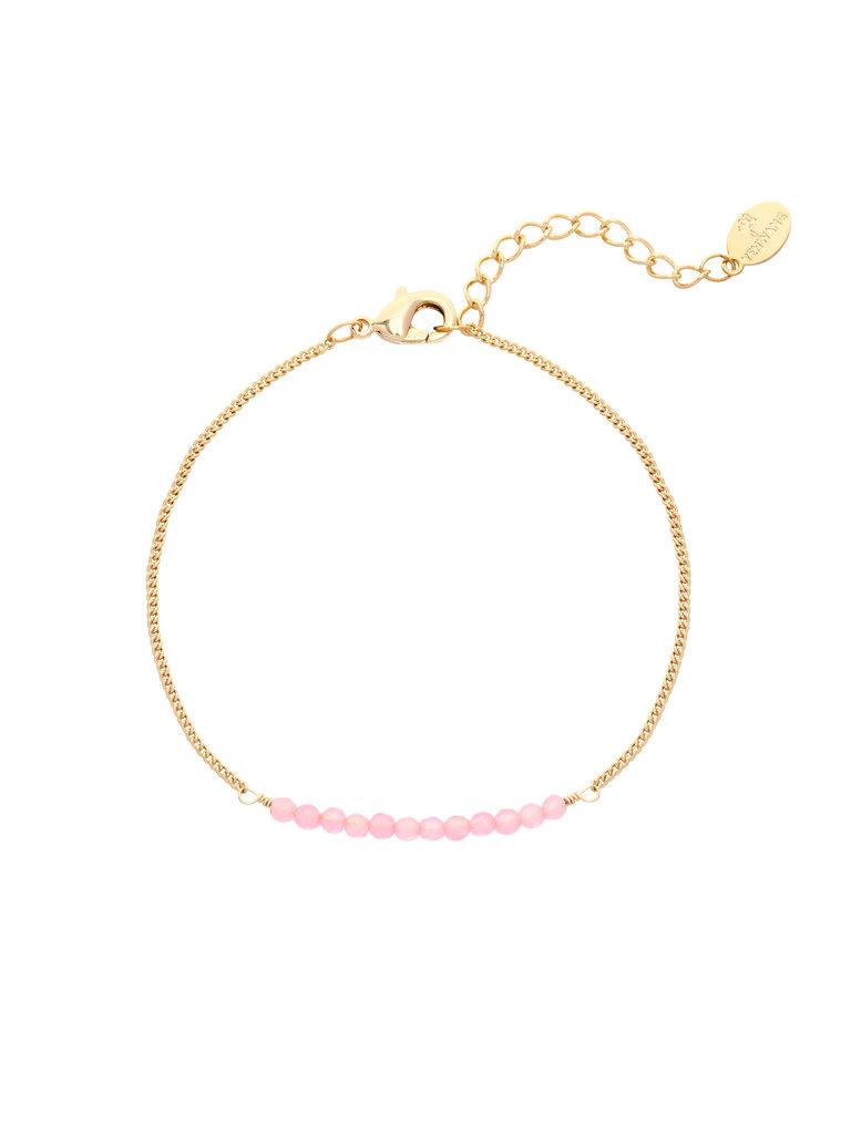 LADYLIKE FASHION Bracelet Fab Beads Purple/Pink