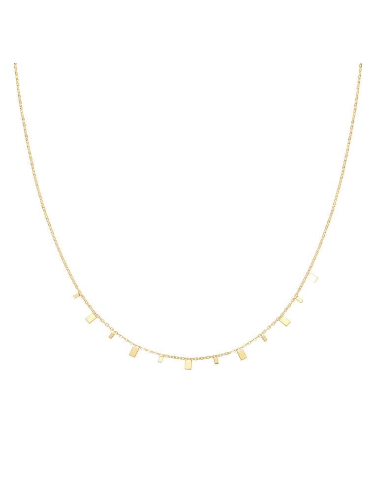 LADYLIKE FASHION Necklace Rectangle Confetti