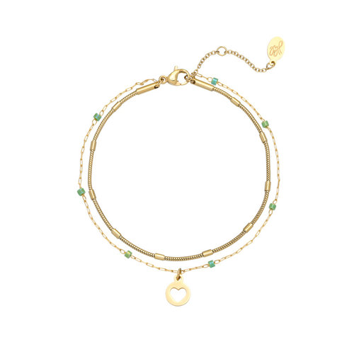 LADYLIKE FASHION Bracelet With Love Green
