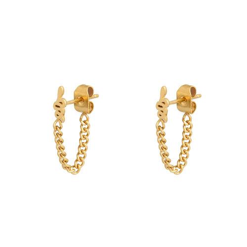LADYLIKE FASHION Earrings Snake and Chain
