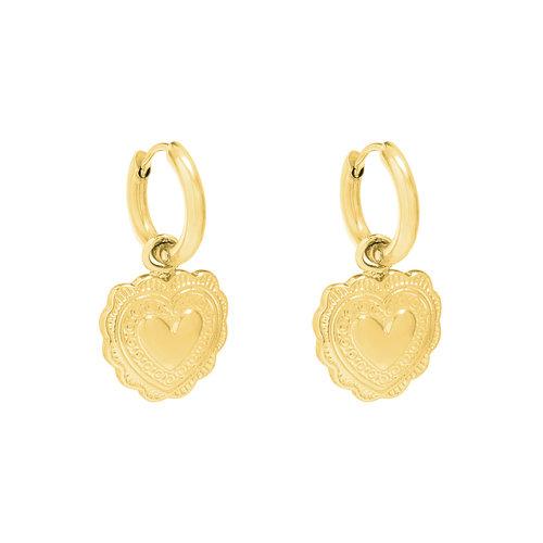 LADYLIKE FASHION Earrings Flora Heart