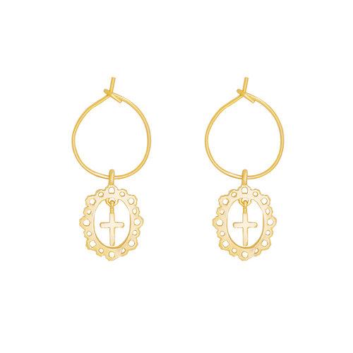 LADYLIKE FASHION Earrings Antique Cross