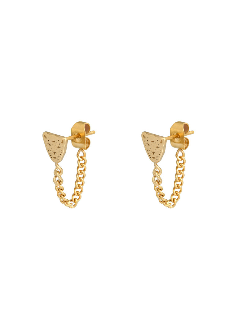 LADYLIKE FASHION Earrings Leopard and Chain