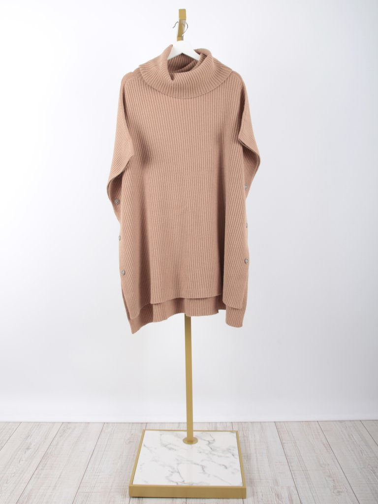 LADYLIKE FASHION Knitted Poncho Camel