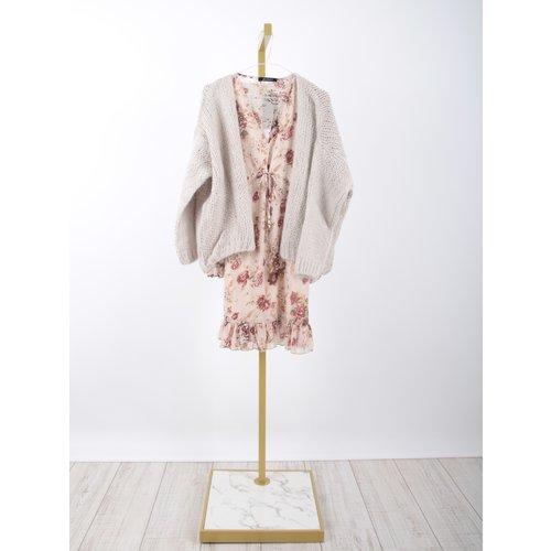 LADYLIKE FASHION Knitted Cardigan Sand