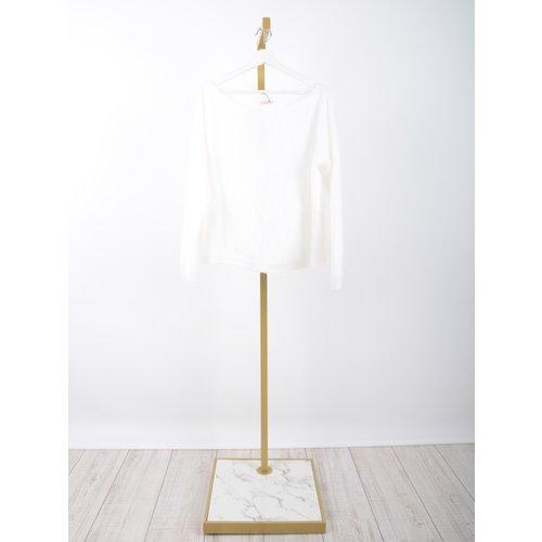LADYLIKE FASHION Soft Boxy Knit Jumper Ecru