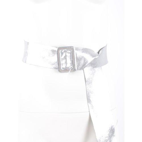 LADYLIKE FASHION Leather Belt Silver