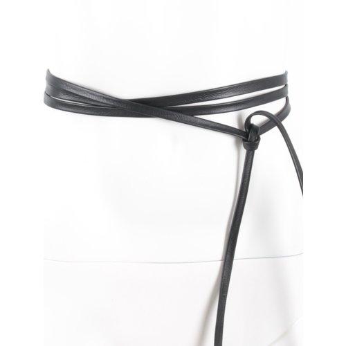 LADYLIKE FASHION Leather Lace Belt Black
