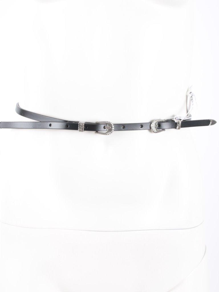 LADYLIKE FASHION Small Leather Belt Black