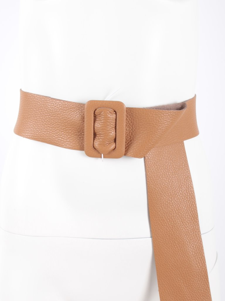 LADYLIKE FASHION Leather Belt Camel