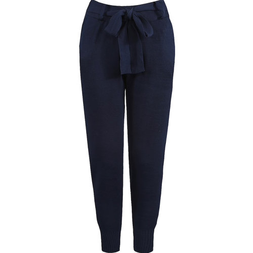 LADYLIKE FASHION Belted Knitted Jogger Navy