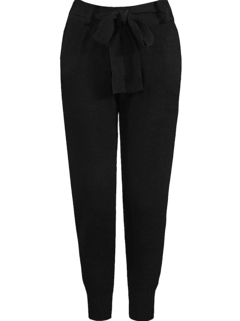 LADYLIKE FASHION Belted Knitted Jogger Black