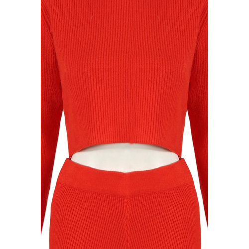 LADYLIKE FASHION Ribbed Jumper Red
