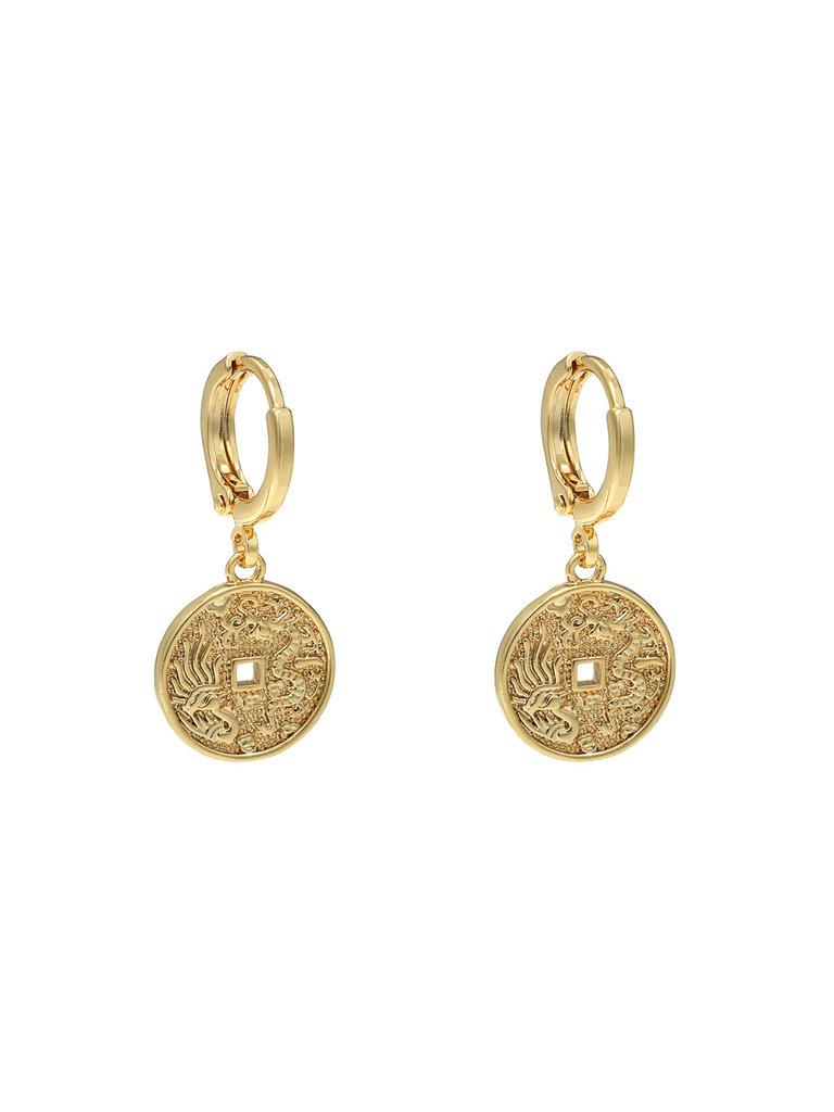 LADYLIKE FASHION Earrings oriental coin