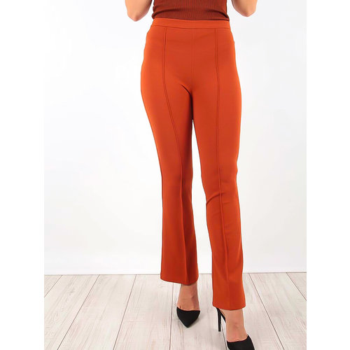 LADYLIKE FASHION Flared Trousers Brown