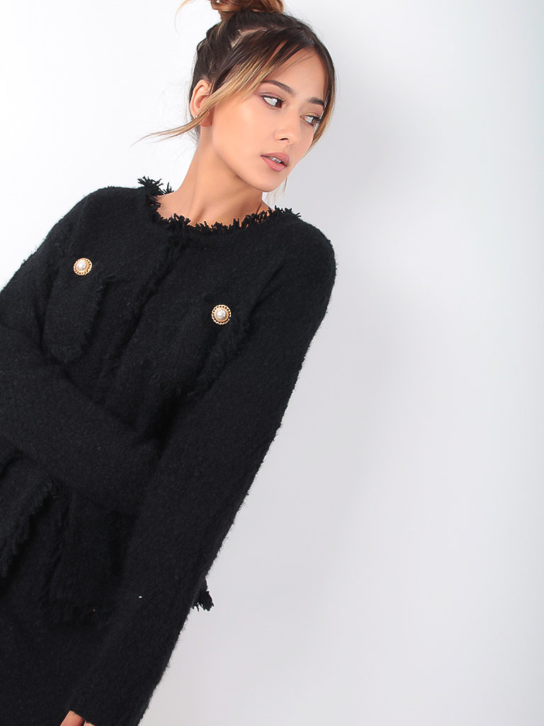 MISSKOO - LADYLIKE FASHION Classic Cardigan Black
