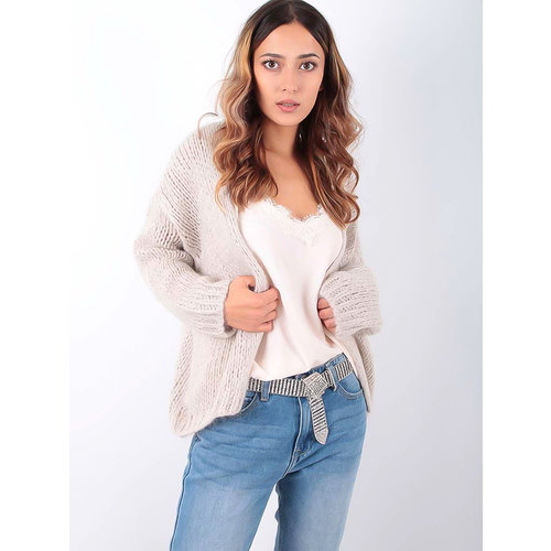 ALEXANDRE LAURENT Knitted Cardigan Sand