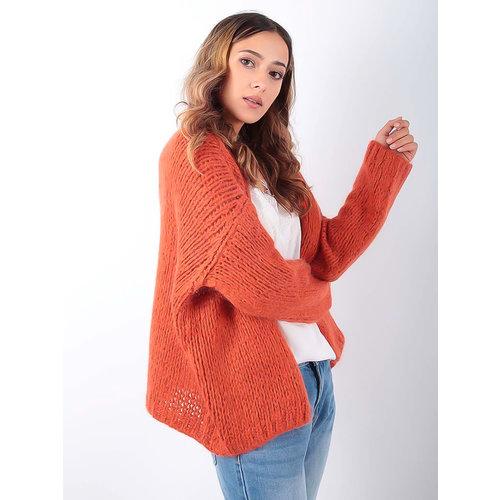 ALEXANDRE LAURENT Knitted Cardigan Orange