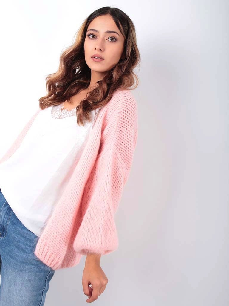 ALEXANDRE LAURENT Knitted Cardigan Baby Rose