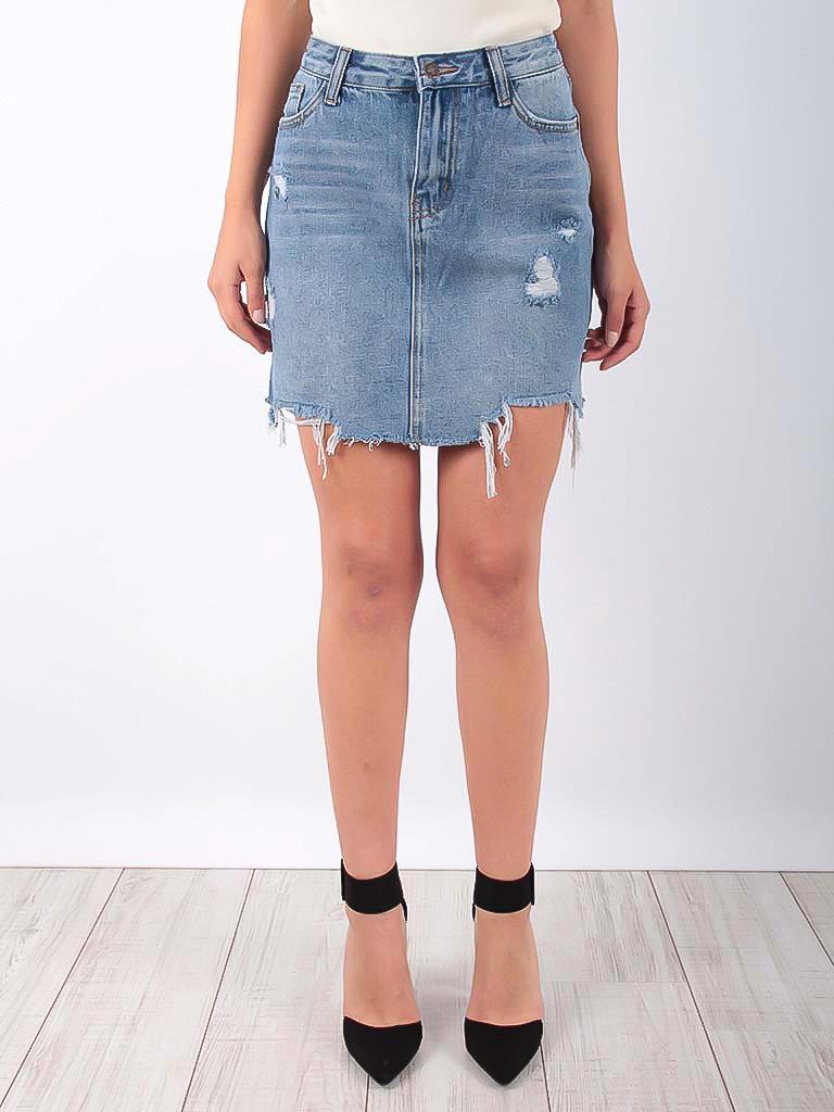 LADYLIKE FASHION Mini Jeans Skirt Blue