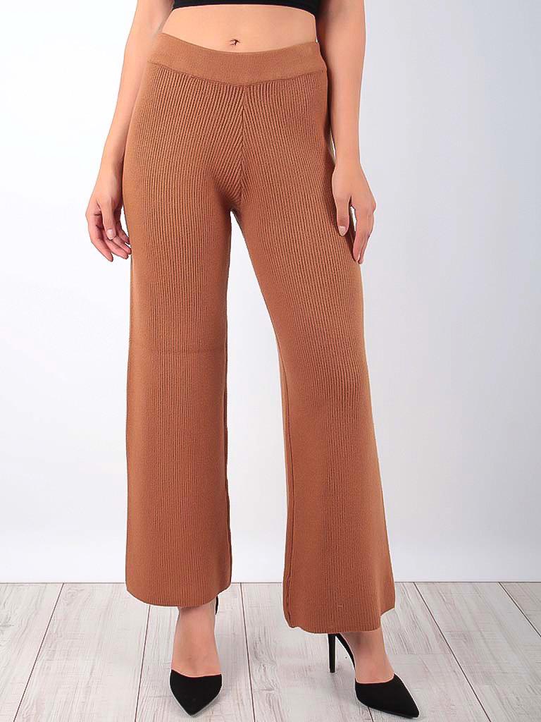 LAETITIA MEM Ribbed Trousers Camel