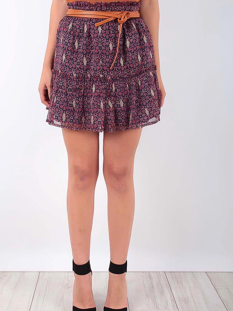 VINTAGE DRESSING Ruffled Skirt Purple