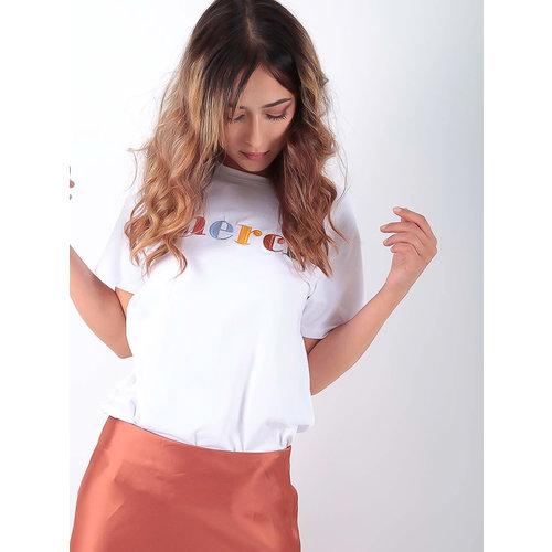 LADYLIKE FASHION T-Shirt Merci White