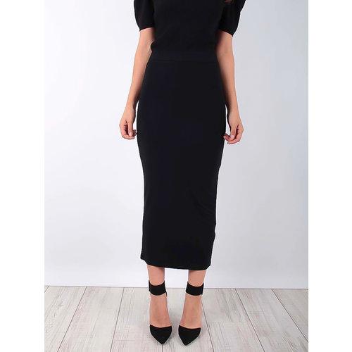 LADYLIKE FASHION Midi Pencil Skirt Black